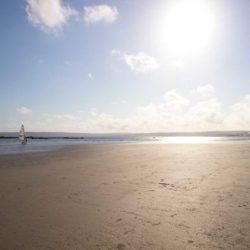 Beautiful, sandy Marazion beach