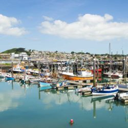 Newlyn harbour, one of the busiest ports in the UK