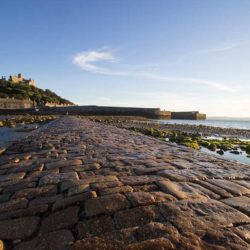 The causeway leading to St Michael's Mount